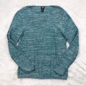 H&M Blue White Knit Sweater